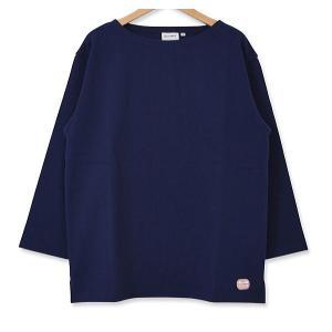 MACOBER バスクシャツ7分袖 NAVY|garretstore