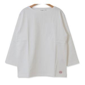 MACOBER バスクシャツ7分袖 WHITE|garretstore