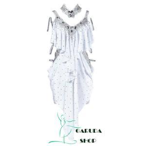 Garuda SHOP レディース社交ダンス衣装 競技ドレス ラテンドレス 高級品 発表会用演出服パ...