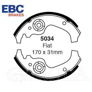 FIAT 500 .(500cc.600cc) 前後用ブレーキシュー フィアット500 :EBC・ブレーキシュー【5034】アウトレット品 |garudaonlinestore