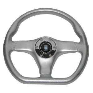 NARDI ガラ・スポーツ アルミニュームルック・シルバーパッド 350mm|garudaonlinestore