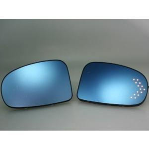 GARUDA BLLED MIRROR TOYOTA  NEW WISH【ニュー・ウイッシュ】用LED付き・ヒーター無し ブルーミラー BTOL-06|garudaonlinestore