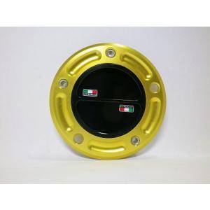 TWMタンクキャップ/KAWASAKI 5H用/ゴールド・ブラック/スクリューtype|garudaonlinestore