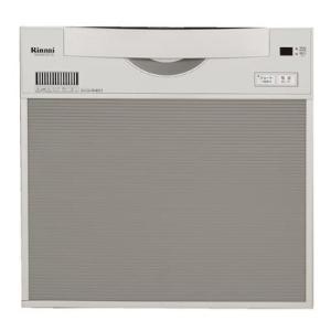 ☆〈3年保証0円/工事付なら5年〉*リンナイ*食器洗い乾燥機ビルトインタイプ〈スライドオープンタイプ〉RKW-C401CSA-SV gas