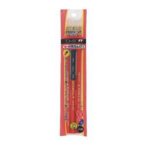 トンボ鉛筆赤青鉛筆8900V2P VP1Pキャップ付パック 朱2朱藍1|gaskigu-hills