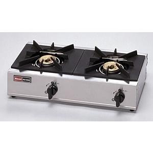 《納期約1週間》リンナイ 業務用ガステーブル  RSB-206SV 2口ガスコンロ 立消え安全装置付|gaskigu