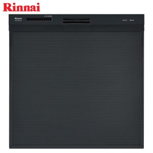 リンナイ 食器洗い乾燥機 RKW-404A-B ブラック 幅45cm スライドオープン/化粧パネル対応《特定保守製品》|gaskigu