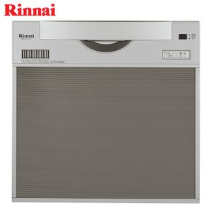 リンナイ 食器洗い乾燥機 RKW-C401C(A)-SV シルバー 幅45cm スライドオープン/化粧パネル対応《特定保守製品》|gaskigu
