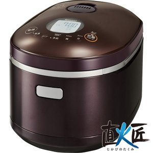 リンナイ ガス炊飯器 直火匠 RR-055MST2(DB) 1〜5.5合炊き/タイマー・電子ジャー付ガス炊飯器|gaskigu