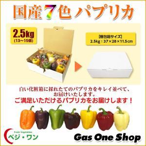 【送料無料】国産8色パプリカ(紫・茶・白・黒・緑・ 赤・黄・橙)2.5kg A品(13〜15個・個包装・化粧箱入)|gasoneonlineshop|02