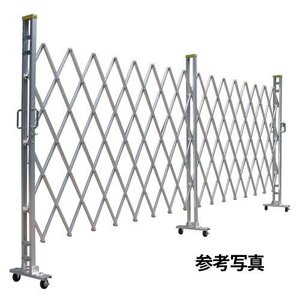 門扉 アルミキャスターゲート 12AYS-36-18 片開き 高さ1.2m×幅3.6m|gate
