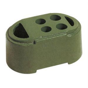 送料無料(2個セット)プラスチックフェンス用-鋳物ブロック|gate