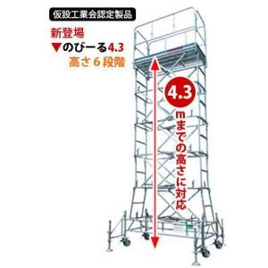 【送料無料】鋼製-昇降式移動足場「のびーる4.3」 gate
