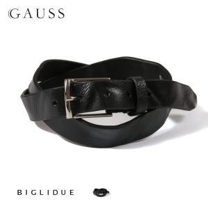 BIGLIDUE 日本製 イタリアンシュリンク レザー ベルト メンズ 革 男性用 ベルト バッグ・小物・ブランド雑貨 結婚式 二次会 パーティー ブランド|gauss