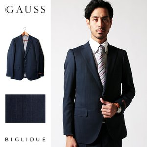 BIGLIDUE ストライプ 2B スーツ セットアップ シングル メンズファッション 結婚式 二次会 パーティー ブランド|gauss
