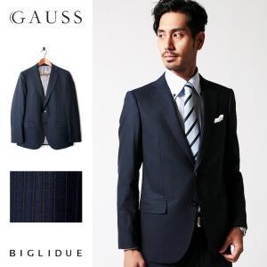 BIGLIDUE ストライプ シングル スーツ セットアップ メンズファッション 結婚式 二次会 パーティー ブランド|gauss