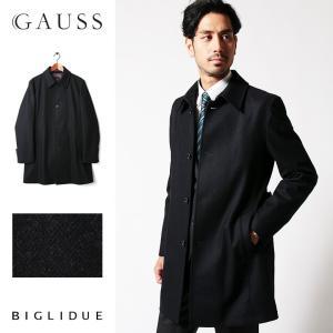 ハーフコート メンズ スーツ 用 コート / アウター 結婚式 二次会 BIGLIDUE ヘリンボーン ウール パーティー ブランド ステンカラー|gauss
