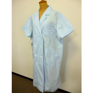 看護師 51-014 女性診察衣ダブル(半袖) サイズ:4L...
