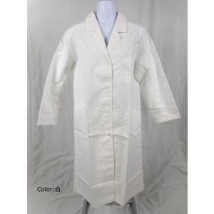 看護師 71-021 女性診察衣ダブル白(長袖) サイズ:L...