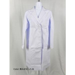 看護師 51-005 女性診察衣シングル白(長袖) サイズ:...