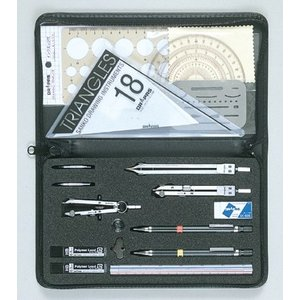 ドラパス オール・イン・ワン製図器 7本組 18品 05-3502|gazai-yh