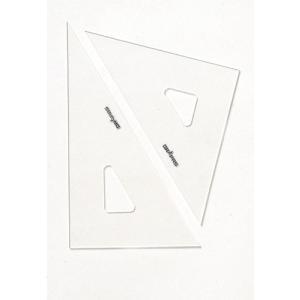 DRAPAS 三角定規 目盛なし 2mm厚 24cm 13-023(2枚1組)|gazai-yh|02
