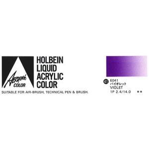 ホルベイン エアーブラシ用絵具 エアロフラッシュ35ml E041 バイオレット