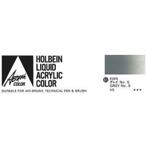 ホルベイン エアーブラシ用絵具 エアロフラッシュ35ml E065 グレイNo.5