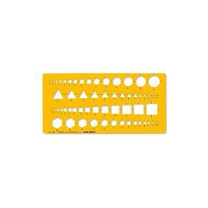 テンプレート 組合せ定規 NO.120 1-843-0120 ウチダ(製図用品) メール便発送|gazaiya