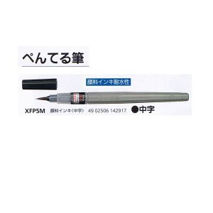 筆ペン XFP5M 中字顔料 ぺんてる メール便発送...