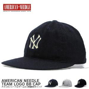 AMERICAN NEEDLE  アメリカンニードル チームロゴ刺繍 BBキャップ 帽子|gb-int
