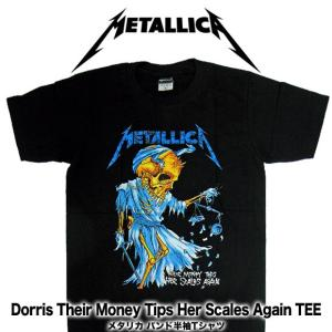 【メール便送料無料】METALLICA メタリカ  BA-0001-BK Their Money Tips Her Scales Again TEE バンドTシャツ|gb-int