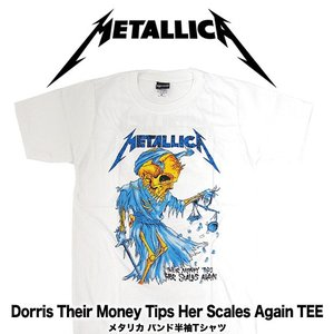 【メール便送料無料】METALLICA メタリカ  BA-0001-WH Their Money Tips Her Scales Again TEE バンドTシャツ|gb-int