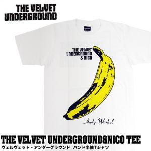 【メール便送料無料】THE VELVET UNDERGROUND ヴェルヴェット・アンダーグラウンド BA-0010-WH THE VELVET UNDERGROUND & NICO TEE バンド|gb-int