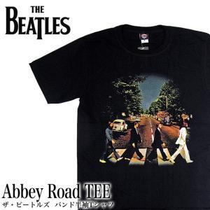 【メール便送料無料】THE BEATLES ビートルズ バンド BG-0002-BK Abbey Road TEE アビイロード バンド 半袖Tシャツ|gb-int