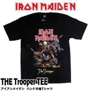 【メール便送料無料】IRON MAIDEN アイアン・メイデン バンドTシャツ BG-0003-BK The Trooper TEE トゥルーパー 半袖Tシャツ|gb-int