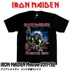 【メール便送料無料】IRON MAIDEN アイアン・メイデン バンドTシャツ BG-0005-BK IRON MAIDEN Moscow 2011 TEE 半袖Tシャツ|gb-int