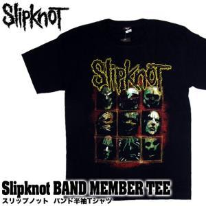 【メール便送料無料】Slipknot スリップノット バンドTシャツ 半袖 BG-0010-BK Slipknot MEMBER TEE メンバー 半袖Tシャツ|gb-int