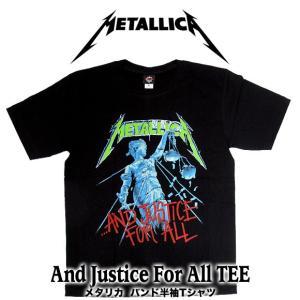 【メール便送料無料】METALLICA メタリカ バンドTシャツ 半袖 BG-0011-BK And Justice For All TEE 半袖Tシャツ|gb-int