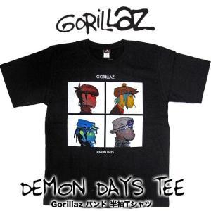 Gorillaz ゴリラズ DEMON DAYS TEE ロックバンド 半袖Tシャツ  【メール便対...