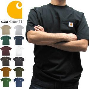 カーハート Carhartt K87 ワークウェア ポケット付きTシャツ 半袖 ミッドウェイト(メール便可)|gb-int