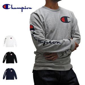 【メール便送料無料】チャンピオン Campion Tシャツ 長袖Tシャツ GT47 Y07789 CロゴTee ロンT USA限定モデル|gb-int