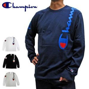 【メール便送料無料】チャンピオン Campion Tシャツ 長袖Tシャツ T3822 550257 縦ロゴ CロゴTee ロンT USA限定モデル|gb-int