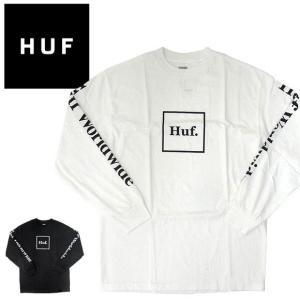 【メール便送料無料】ハフ Tシャツ HUF ロンT ドメスティック ボックス ロゴ TS00146 長袖Tシャツ|gb-int