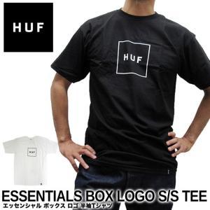 【メール便送料無料】ハフ Tシャツ HUF エッセンシャル ボックス ロゴ TS00507 半袖Tシャツ|gb-int