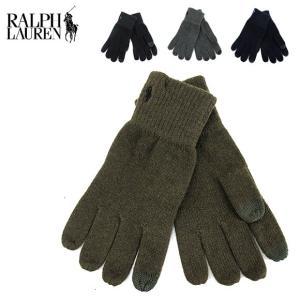 POLO Ralph Lauren ラルフローレン コットンメリノ タッチ グローブ 手袋 (メール便対応)|gb-int
