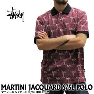 ステューシー STUSSY メンズ マティーニ ジャカード S/SL ポロシャツ 114946(メール便不可) gb-int