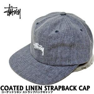 STUSSY ステューシー コーテッドリネン ストラップバックキャップ 帽子 131680 (メール便不可) gb-int