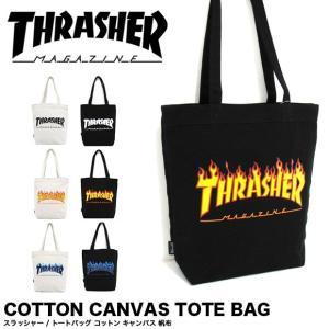 1点までメール便送料無料 THRASHER スラッシャー バッグ トートバッグ コットン キャンバス THC-800|gb-int