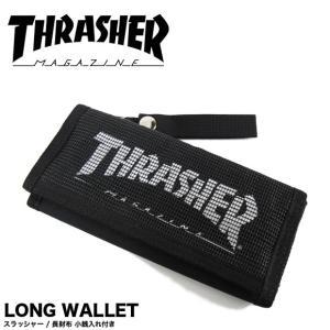 1点までメール便送料無料 THRASHER スラッシャー 財布 長財布 マジックテープ ロングウォレット 小銭入れ付き THRSG112 gb-int